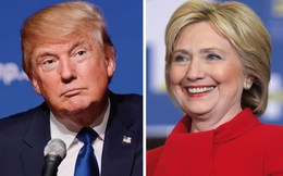 Bà Hillary dẫn điểm trước ông Trump trên phạm vi toàn quốc