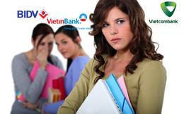 """Cổ đông BIDV, Vietinbank """"ngán ngẩm"""" nhìn cổ phiếu Vietcombank tăng phi mã"""