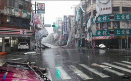 Hình ảnh siêu bão Nepartak càn quét đảo Đài Loan