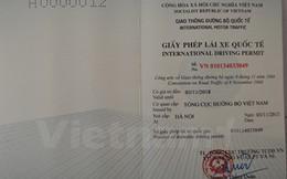Hà Nội tiến hành cấp giấy phép lái xe quốc tế từ ngày 1/3