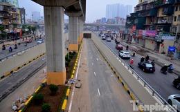 Cận cảnh 2 hầm chui lớn nhất ở Thủ đô trước giờ thông xe