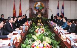 Chủ tịch Quốc hội Nguyễn Thị Kim Ngân hội đàm với Chủ tịch Quốc hội Lào