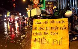 3 anh em sửa xe bị ngập miễn phí tại Sài Gòn