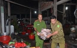 Gần 700 kg thịt heo bệnh, bốc mùi trong cơ sở giết mổ lậu