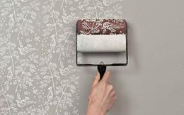 Giấy dán tường đã trở nên lỗi thời, sơn họa tiết mới là xu hướng của tương lai