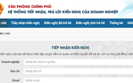 Lập tổ công tác tiếp nhận, xử lý phản ánh của doanh nghiệp qua website doanhnghiep.chinhphu.vn