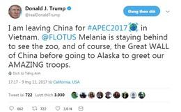 Tổng thống Trump hồ hởi lên mạng xã hội 'khoe' sắp tới Việt Nam dự APEC
