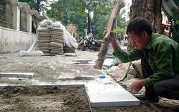 Hà Nội chi bao nhiêu tiền lát đá 930 tuyến vỉa hè?