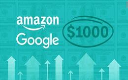 Sau Amazon, cổ phiếu công ty mẹ Google cán mốc 1.000 USD