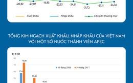 [Infographic] Việt Nam nhập siêu hơn 24 tỷ USD từ các nước APEC 10 tháng đầu năm