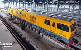 Ngắm 3 đoàn tàu Cát Linh - Hà Đông tại ga đầu mối từ trên cao