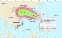 Bão số 11 cách quần đảo Hoàng Sa khoảng 720km