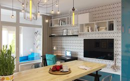 Thiết kế nội thất căn hộ đầy đủ công năng dù diện tích chỉ 30m2