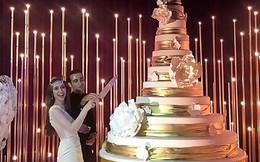 """Cận cảnh đám cưới """"dát bạc"""", riêng tiền hoa đã """"ngốn"""" 11 tỷ đồng của con gái nhà tài phiệt Nga"""