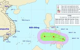 Áp thấp nhiệt đới đầu năm 2017 sắp vào Biển Đông
