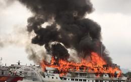 Lại cháy tàu du lịch tại cảng Tuần Châu 