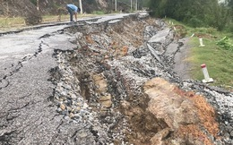 Con đường 68 tỷ ở Nghệ An: Sáng đi thấy một vết nứt, chiều về không thấy đường đâu nữa