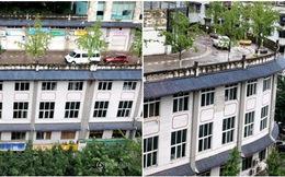 Đất chật người đông, Trung Quốc đành xây hẳn đường đi trên nóc nhà