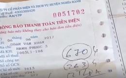 Dân bức xúc vì hóa đơn tiền điện tăng cao bất thường