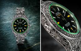 """Chiêm ngưỡng đồng hồ Rolex phiên bản """"lá xanh"""" đầu tiên trên thế giới: Chạm khắc tinh xảo đến từng chi tiết"""