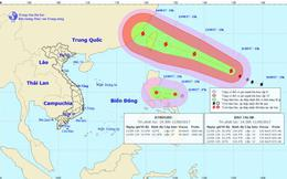Bão Talim và áp thấp nhiệt đới cùng xuất hiện gần biển Đông
