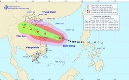 Bão số 10 sóng vùng tâm bão có thể lên cao 10m