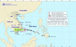 Bão số 14 đã suy yếu thành áp thấp nhiệt đới gần bờ