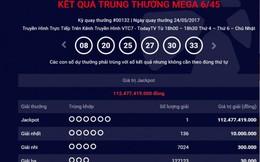 Vé số trúng thưởng hơn 112 tỷ đồng được bán ở Hà Nội