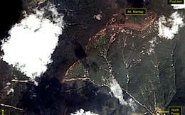Ảnh vệ tinh chụp ngọn núi Triều Tiên thử bom H có nguy cơ sập