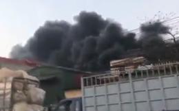 Cháy lớn ở kho chứa phế liệu rộng 1.200 m2
