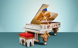 Chiêm ngưỡng cây piano trị giá 2,5 triệu USD, được trang trí bằng bức tranh vẽ tay mất 4 năm mới hoàn thiện