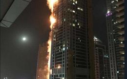 Cháy lớn ở một trong những tòa chung cư cao nhất thế giới