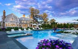 Ngắm nhìn ngôi biệt thự 35 triệu USD có sân thượng màu xanh và sân bóng rổ ngay trong nhà