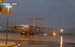 """""""Ngựa thồ"""" IL-76 của đoàn tiền trạm Tổng thống Nga đã đáp xuống Đà Nẵng"""