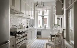 Căn hộ chỉ 50m2 được thiết kế tông màu trắng, đem lại không gian sống rộng rãi và sang trọng