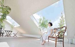 """Ngôi nhà trắng với thiết kế """"độc lạ"""" nổi bật giữa khu phố"""