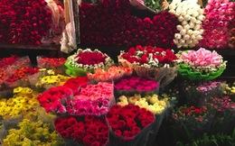 Chợ hoa đêm Quảng An rộn ràng dịp 8.3