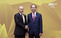 Hình ảnh Chủ tịch nước đón các lãnh đạo các nền kinh tế APEC