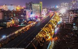Phá cầu vượt thần tốc trong 8 giờ, chuyện chỉ có thể gặp ở Trung Quốc