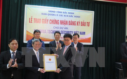 Bắc Ninh đứng đầu cả nước về thu hút vốn đầu tư nước ngoài