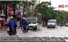 Mưa như trút nước, đường phố Hải Phòng biến thành sông