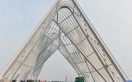 [Clip]: Cổng chào hoành tráng gần 200 tỷ đồng của tỉnh Quảng Ninh nhìn từ trên cao