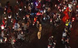 CSGT trong vòng vây của người hâm mộ U23 Việt Nam