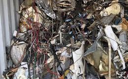 Hàng loạt container rác thải lại nhập cảng Cát Lái