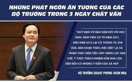 Phát ngôn ấn tượng của các bộ trưởng trong 3 ngày chất vấn