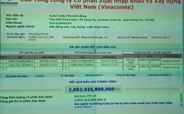 """Trả giá cao hơn """"7,6 đồng/cp"""", một nhà đầu tư đã chiến thắng trong phiên đấu giá cổ phần Vinaconex của Viettel"""