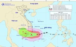 Bão số 9 giật cấp 12 cách Nha Trang khoảng 290km