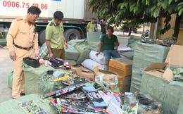 Bắt giữ xe ô tô container vận chuyển nhiều hàng hóa nhập lậu