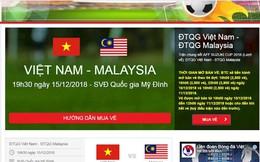 VFF: Trên 39 triệu lượt truy cập website bán vé chung kết lượt về giữa Việt Nam vs Malaysia