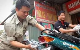 Ùn ùn mang xe đi rửa ngày 30 Tết, giá tăng giá 4 - 5 lần ngày thường